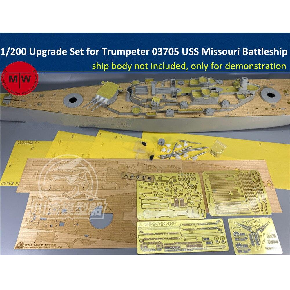 Juego de actualización a escala 1/200 para Trumpeter 03705 USS Misuri Battleship Model Kit