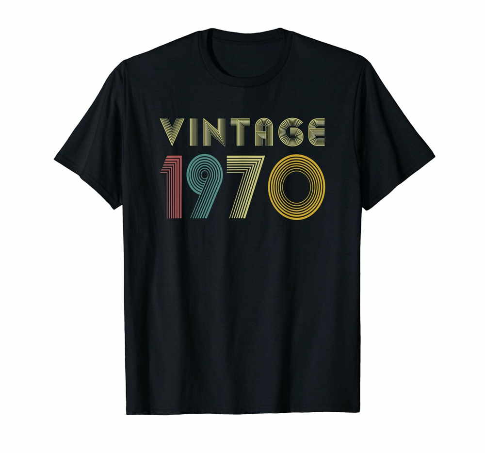 49Th Birthday Gift Idea Vintage 1970 T-Shirt Distressed Free Shipping Funny Tops Tee Shirt