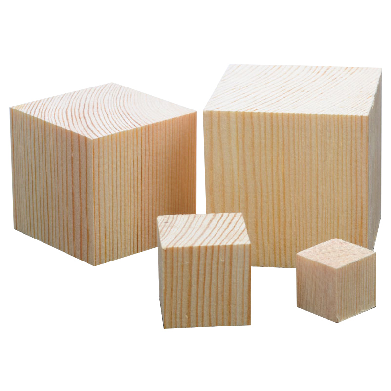 Unfinished Natural Solid Pine Wood Blocks Wood Cubes For Handmade Puzzle Making Photo Blocks Crafts DIY Projects