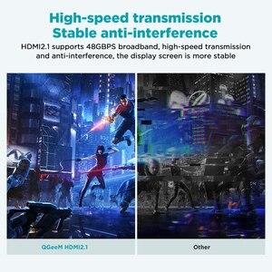 QGeeM 8K HDMI кабель HDMI 2,1 провод для Xiaomi Xbox Serries X PS5 PS4 Chromebook ноутбуки 120 Гц HDMI сплиттер цифровой кабель шнур 4K