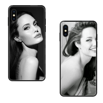 Black Soft TPU Protective Skin For iPhone 11 12 Pro 5 5S SE 5C 6 6S 7 8 X 10 XR XS Plus Max Achat Angelina Jolie Exquisite image