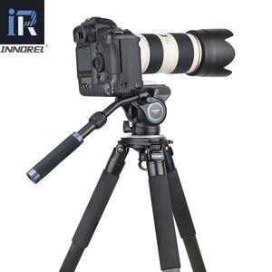 Image 2 - F60/F80 ビデオ流体ヘッドパノラマ油圧眼レフカメラの三脚三脚スライダー調整可能なハンドルマンフロットq.r。プレート