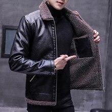 New winter jacket men Casual PU Warm leather jacket