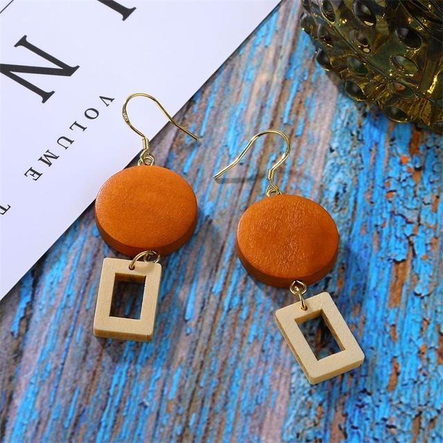 Wooden Dangle Earrings