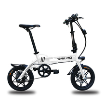 Foldable 14 inch E-bike mini E-bike for adults and children 250W lithium battery fiber cheap 200 - 250w Solar 30km h Brushless STEEL 31 - 60 km One Seat Multifunctional Type 30-50km h Carbon access White blue black red