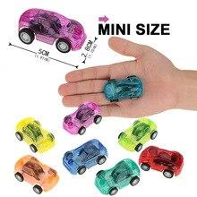 24 шт./компл. креативный мини Размеры Пластик автомобиля игрушечных автомобилей вытяните назад автомобиль грузовик детские игрушки для дете...