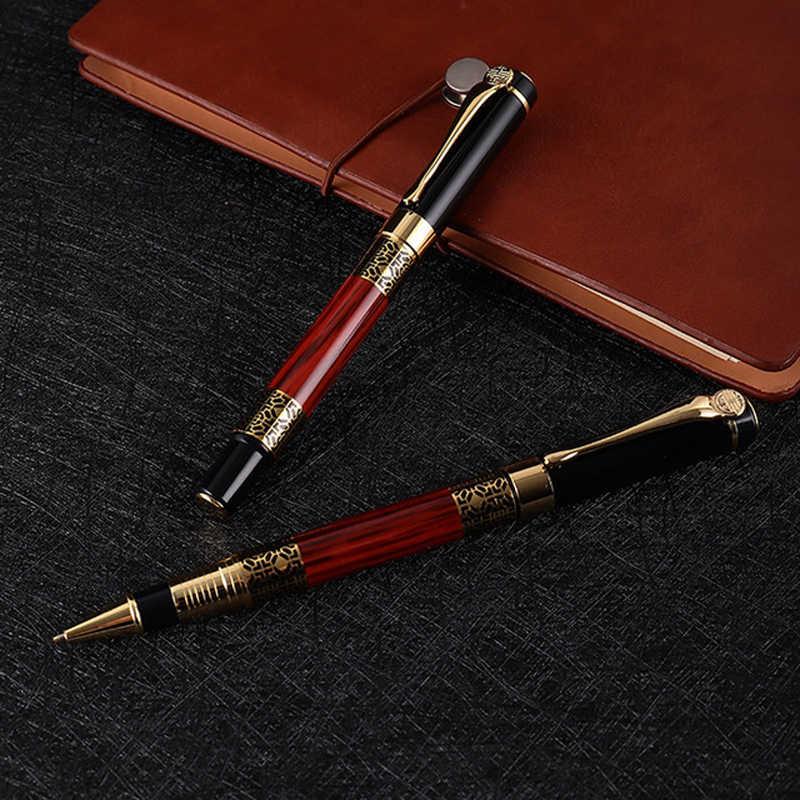 شحن مجاني العلامة التجارية الفاخرة بطل قلم حبر مكتب التنفيذي الكتابة السريعة هدية من المعدن القلم شراء 2 أقلام إرسال هدية