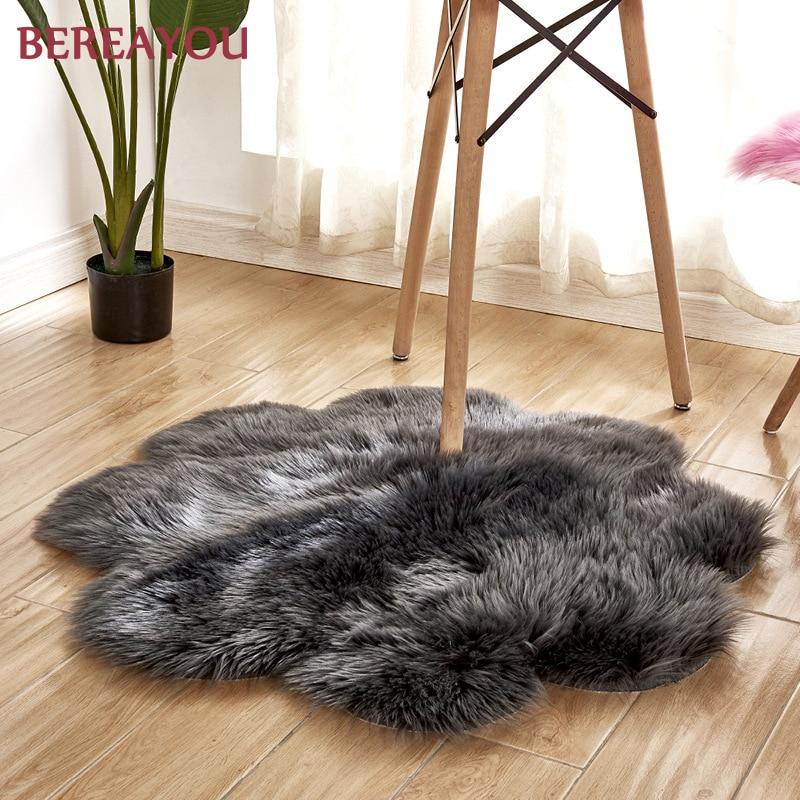 Tapis de fourrure nordique et tapis pour la maison salon chambre tapis chambre enfants chambre chaise couverture moderne tapis rond tapis chambre - 5