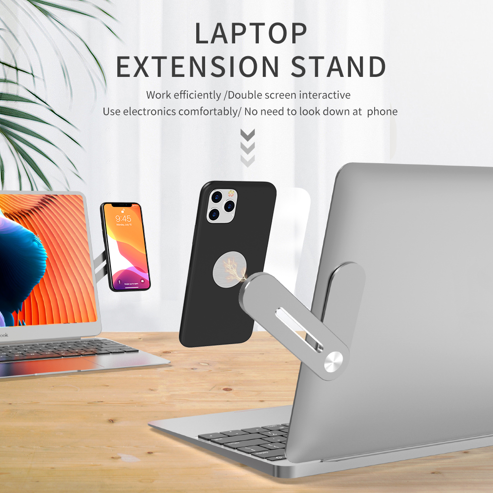 Laptop Stand Magnetic Screen Support Side Mount Connect Tablet Bracket Dual Monitor Display Clip Adjustable Phone