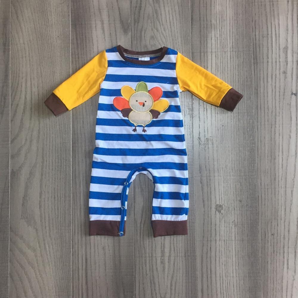 Girlymax thanksgiving fall/winter baby girls boys raglans boutique blue mustard turkey stripe cotton top icing long sleeve 4