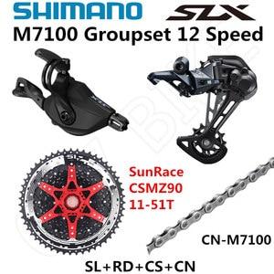 Image 3 - SHIMANO DEORE SLX M7100 Groupset MTB Mountain Bike 1x12 Speed 51T SL+RD+CSMZ90+X12 M7100 shifter Rear Derailleur