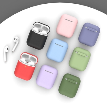 Soft Silicone Case for Apple Airpods 1/2 Case Shockproof Bluetooth Wireless Protective Cover skin Accessories for Apple Airpods image
