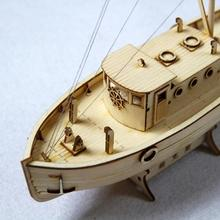 Ship Model Assembly DIY  Wooden Sailboat 1:50 Scale Toy Gift Decoration Red-mirry Assembled
