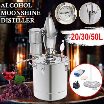 20 30 50L gospodarstwa domowego Moonshine gorzelni kocioł chłodnica ze stali nierdzewnej miedzi etanolu alkoholu warzenia wina wody olejek tanie i dobre opinie Bar Sets
