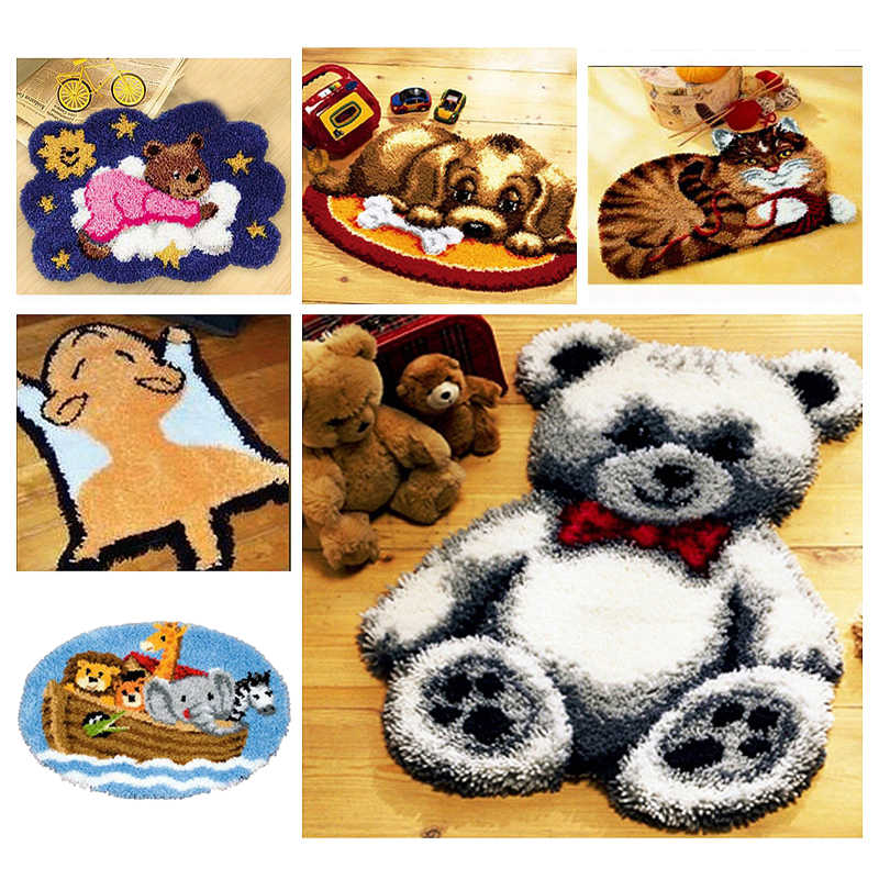 3d Animal tapis broderie loquet crochet Kits Section broderie bricolage artisanat Kits pour adultes fleur point de croix bricolage loquet crochet N