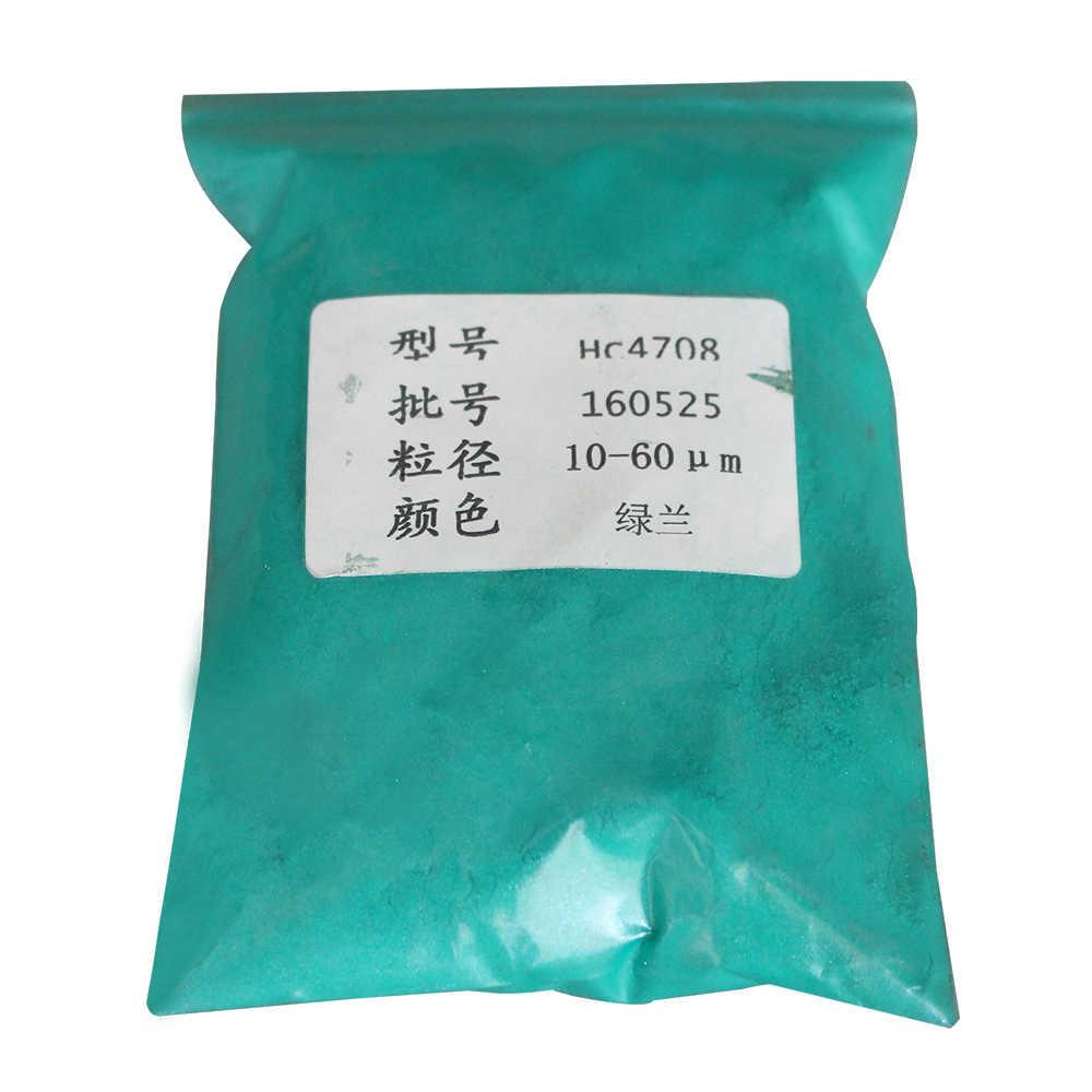 Perle Pulver Pigment Mineral Glimmer Pulver Typ 4708 Grün Blau für Auto Farbstoff Farbstoff Seife Nagel Automotive Kunst Handwerk Acryl farbe