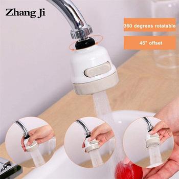 ZhangJi 3 tryby kran Aerator oszczędzania wody filtr wysokociśnieniowy dysza opryskiwacza 360 stopni obrót dyfuzor Aerator elastyczny tanie i dobre opinie Zhang Ji Aeratorów SDWXJSQ Z tworzywa sztucznego Faucet Aerators bathroom Kitchen
