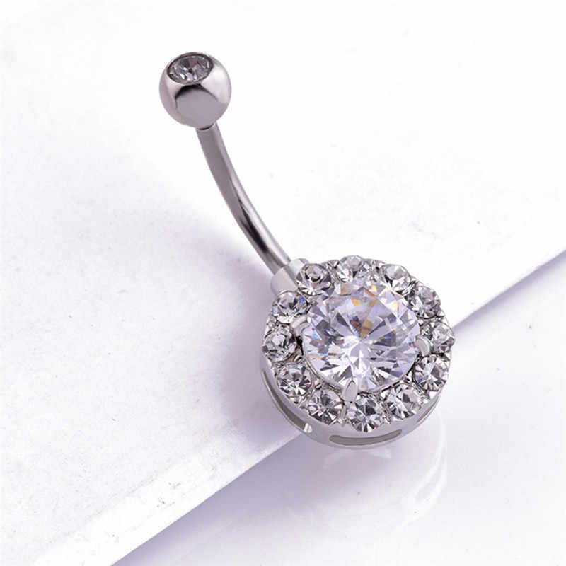 1 шт., сексуальные висячие кольца для пупка, хирургическая сталь, пупка для живота, пирсинг, кольцо для женщин, ювелирные изделия для тела, штанга