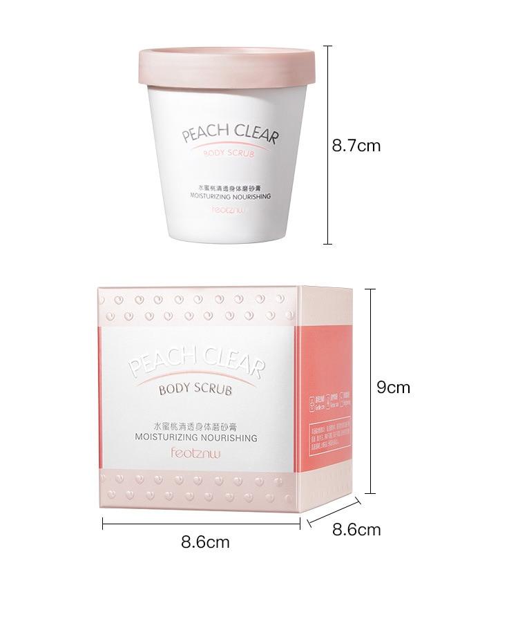 Niacinamide Whitening Body Scrub Cream Moisturizing Skin Exfoliating for Whole Body Pimple Removal Whitening Joints Bath Using 6