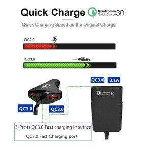 Image 5 - Ghế Hơi Tựa Lưng 4 Cổng USB Sạc Nhanh 3.0 Phía Trước Xe Hơi Di Động Sạc Cho iPhone Huawei 60W 12A Quadra Cổng USB Nhanh Sạc Điện Thoại