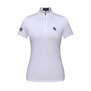 Nowy PG damskie T-shirt do golfa PG Golf koszulka sportowa oddychający i szybkoschnący odprowadzanie wilgoci z krótkim rękawem darmowa wysyłka