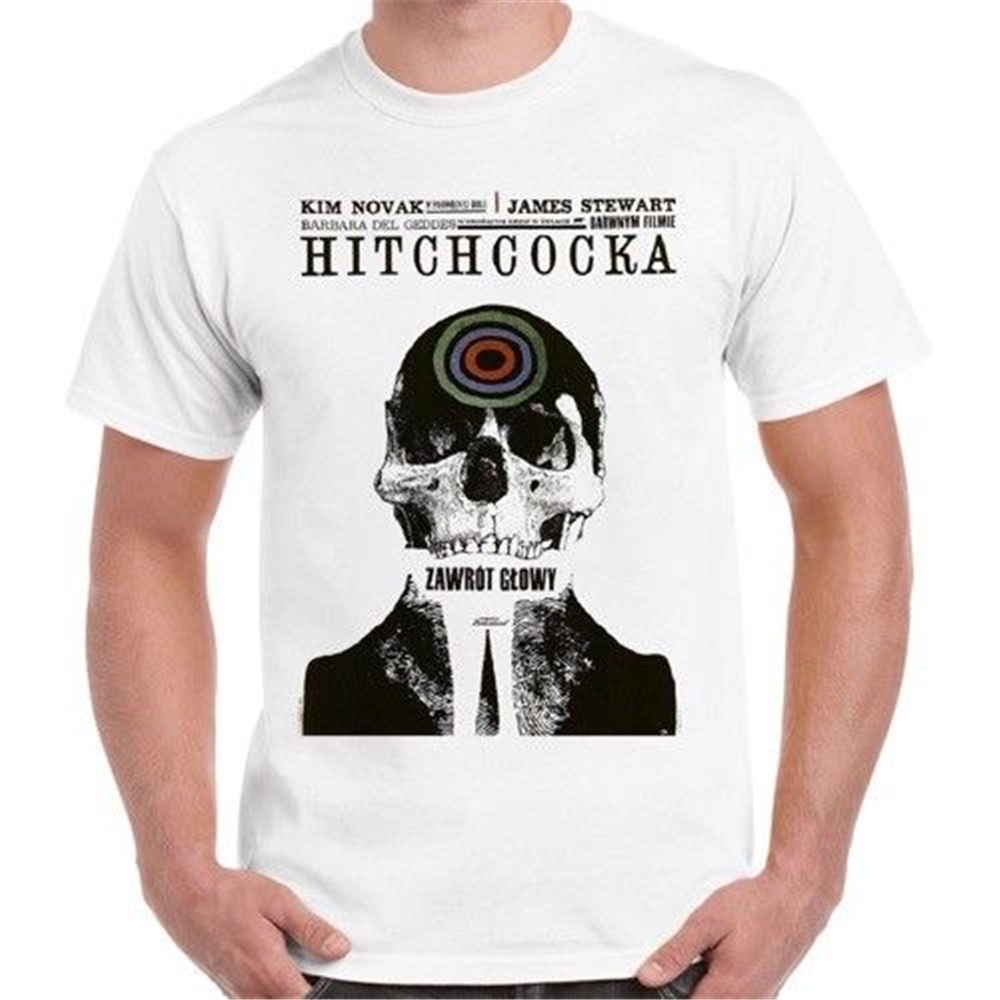 Alfred Hitchcock Vertigo Movie Poster Retro T Shirt 119 New Unisex Funny Tee Shirt image