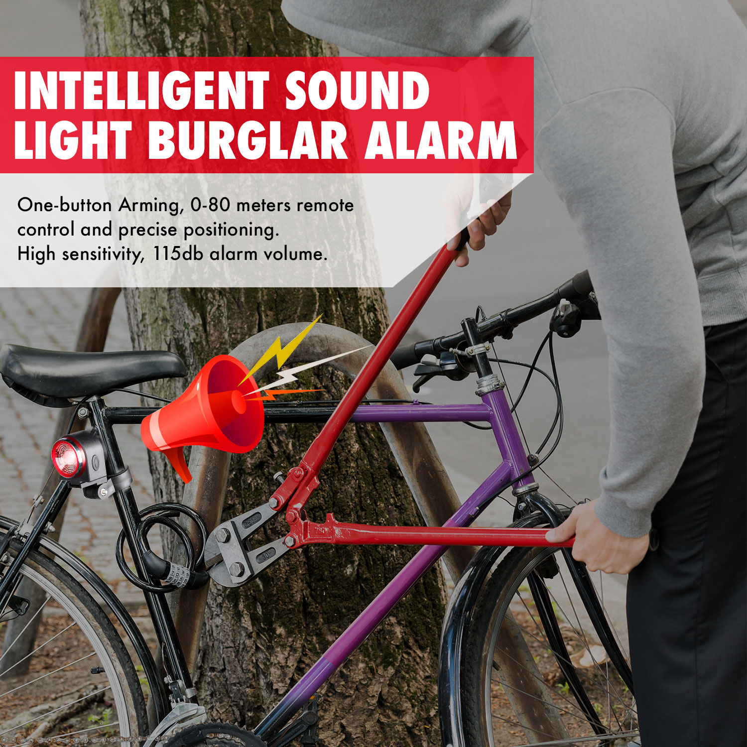 Ultimate SaleTail-Light Bike Anti-Thief-Alarm IPX5 Rechargeable Remote-Control with W/intelligent-Chip