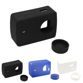 Gosear Silicone Protective Cover Protector Case Shell Skin Lens Cap for Xiaomi Yi 4 K XiaoYi 2 II Xiomi 4K Action Camera Gadget diving case xiaoyi yi 4k 2 waterproof housing case for original xiaomi yi 4k sports camera xiaoyi ii 2 4k camera accessories