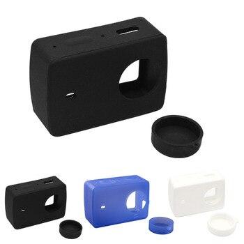 цена на Gosear Silicone Protective Cover Protector Case Shell Skin Lens Cap for Xiaomi Yi 4 K XiaoYi 2 II Xiomi 4K Action Camera Gadget