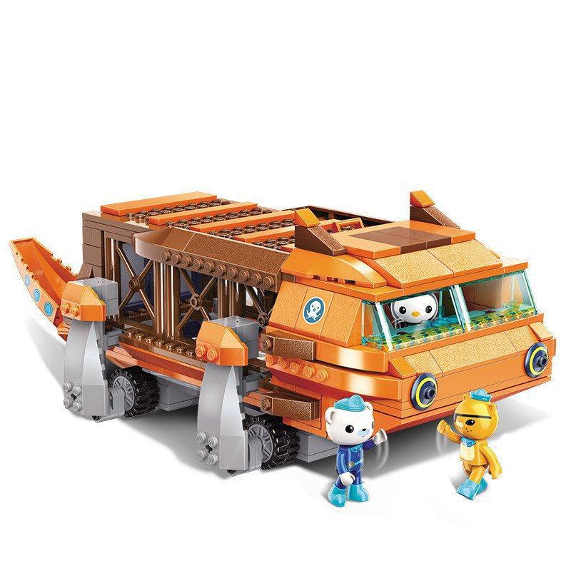 378Pcs Building Blocks 3706 Submarine Small Column Big Salamander Boat Children Assembled Toy Gifts