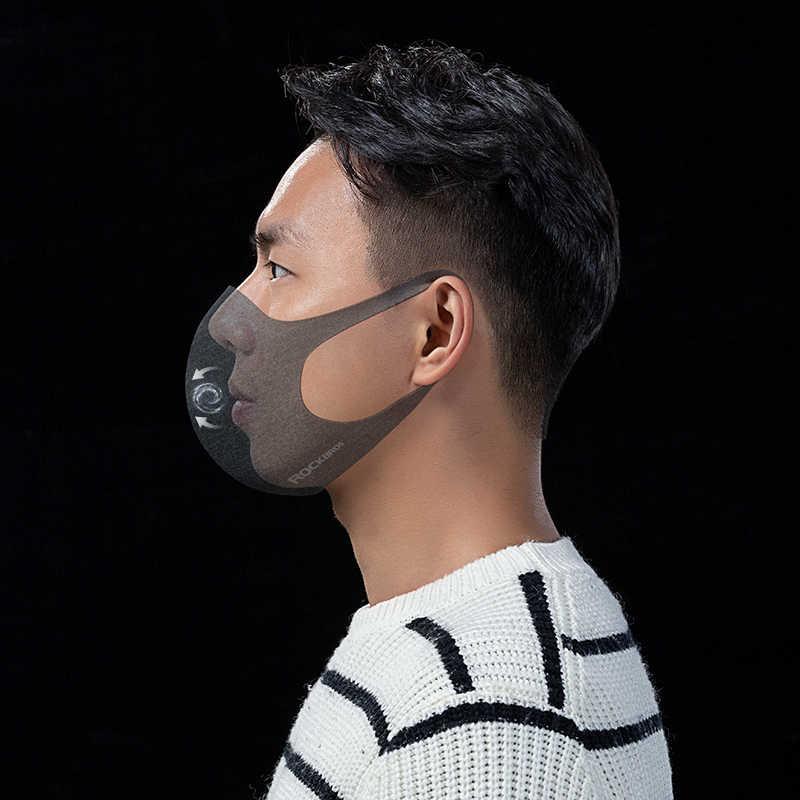 Rockbros pm2.5 máscara de poeira ciclismo máscara protetora filtro à prova de vento respirável máscara de proteção anti-nevoeiro correndo esportes ao ar livre máscara facial
