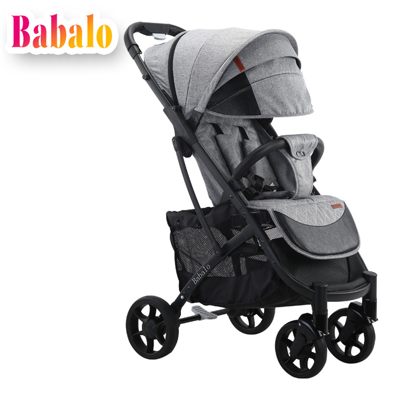 Babalo Yoya plus stroller baby delivery free ultra light folding can sit or lie high landscape