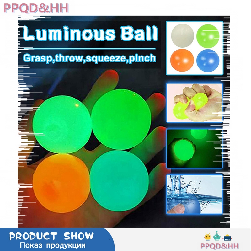 Stick Wall Ball Sticky Ball Catch Throw Ball Glob Novelty For Kids Boys Girls Indoor Game Toy