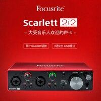 Focusrite Scarlett 2i2 (tercera generación), nueva actualización, interfaz de audio profesional, tarjeta de sonido USB con preamplificador de Micrófono