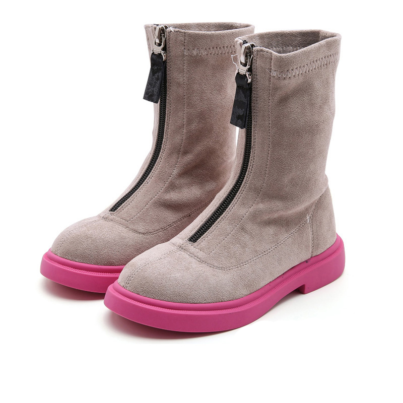 Bakkotie New 2019 Kids Fashion Black Boots Baby Girls Autumn Pink Zip Brand Ankle Boots Children Soft Casual Dress Shoes