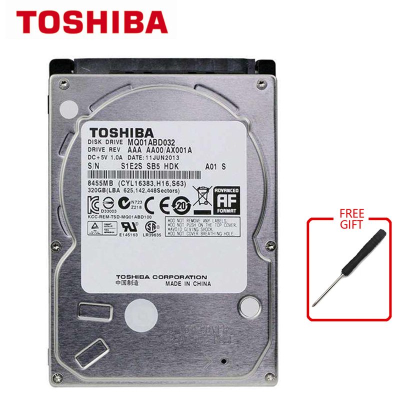 TOSHIBA 320GB SATA2 <font><b>HDD</b></font> Laptop Notebook Internal 320G <font><b>HDD</b></font> Hard Disk Drive SATA2.0 8MB 5400rpm Used image