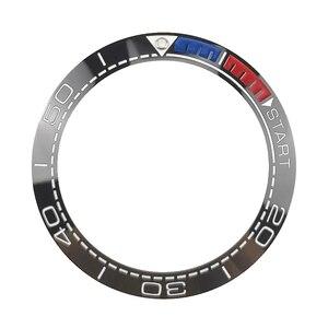 Image 4 - Yeni 41.5mm yüksek kaliteli seramik çerçeve takımı için deniz ana dalgıç erkek saati saatler aksesuarları değiştirin mavi/siyah/ turuncu