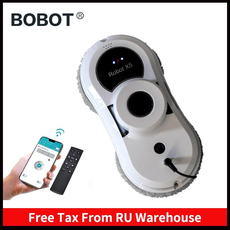 BOBOT GANHAR X5 Glass Window Cleaner Robot, Robô Aspirador de pó Domésticos Ferramenta de Limpeza do Robô para Lavar Janelas