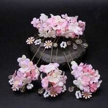 Набор красивых заколок для волос hanfu принцессы, 4 цвета, карнавальные головные уборы, Хэллоуин, косплей, вечеринка, цветок для волос