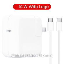 61W USB-C Adapter PD Type-C fast charging For Apple 12 13inch new macbook laptop power A1706 A1708 A1718 A1989 A1932