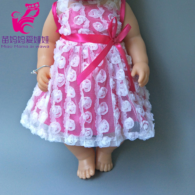 Dolls Rompers Fit 43cm  Baby Doll 18 Inch girl boy Doll pajama Clothes kids play toys 3