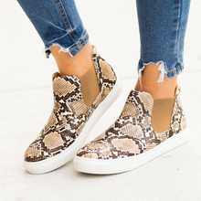 Jodimitty New Flats Women Leaopard Women Sneakers Flats Women Canvas Casual