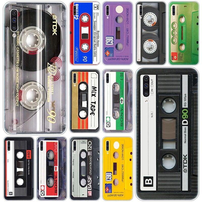 Хит продаж; Классические старые кассеты Силиконовый чехол для Samsung Galaxy A90 5G A80 A70 A60 A50 A40 A30 A20 A10 S A10E A20E M10 M30S M40