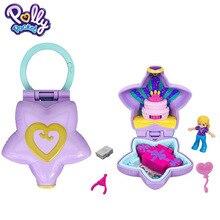 Original Mattel Polly Tasche Puppe Tragbare Geldbörse Kompakte Mädchen Hause Spielzeug für Kinder Meerjungfrau Kid Nesting Reborn Puppen Mädchen