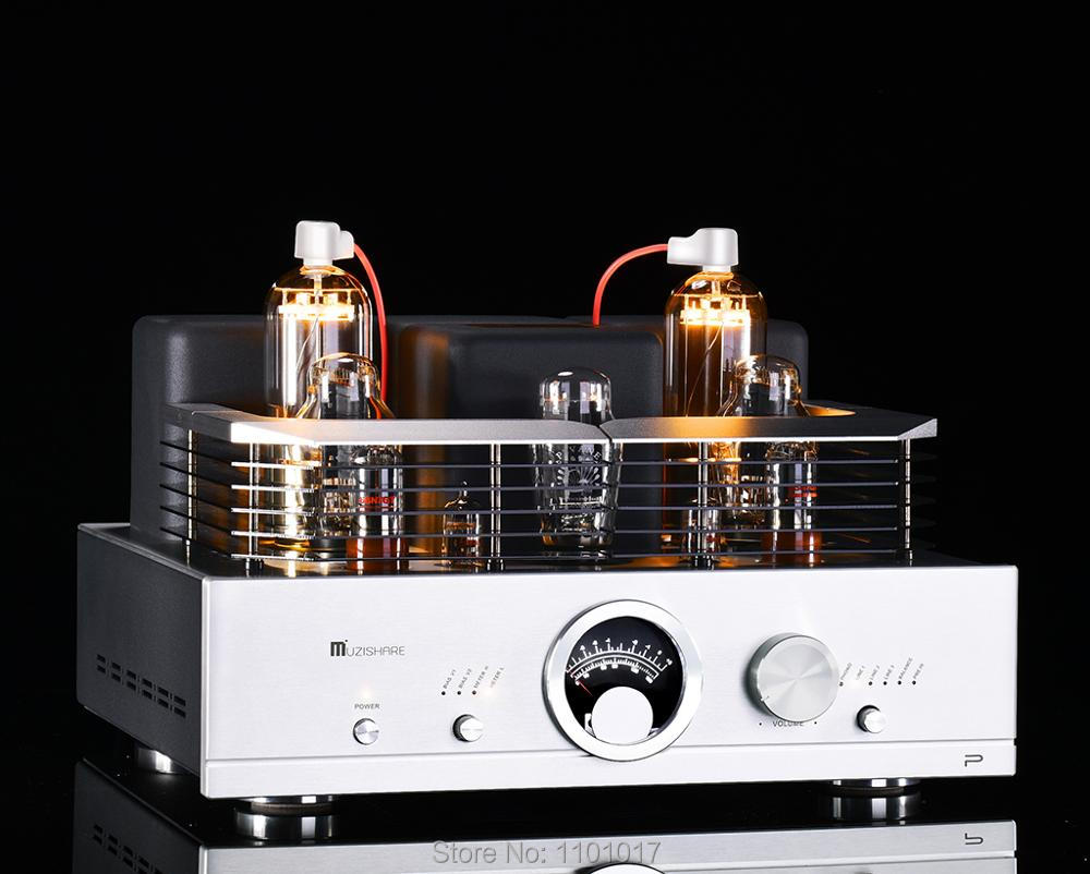 MUZISHARE New R100 300B Drive 845/211/805 Tube Amplifier HIFI EXQUIS  Integrated With Power Amplifier Amplifier     - title=