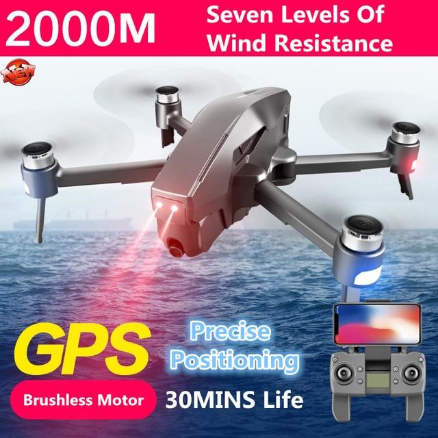 4K Chuyên Nghiệp GPS Không Chổi Than WIFI FPV RC Drone Quadcopter 5G 2KM 11.1V 4000MAh Pin GPS tự động Theo Tôi Quadcopter VS B4W X12
