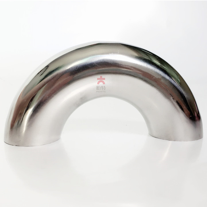 Free Shipping 32mm 304 Stainless Steel Sanitary Weld 180 Degree Bend Elbow Pipe Fitting For Homebrew Dairy Product