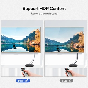 Image 3 - Moshou HDMI compatible 4K 2.0b 2.0 Cables 4K 60Hz HDR ARC Ethernet Video male to male for Monitor TV PS4 NS Projector Amplifier