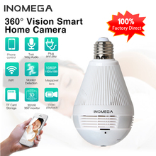 INQMEGA 960P Wifi Indoor Panoramic Camera Fisheye  Bulb 360 Home Security Video Surveillance Night Vision Bilateral Audio