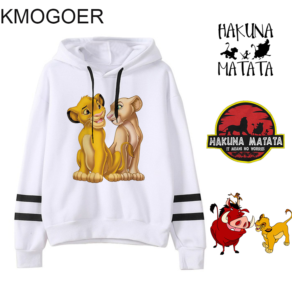 The Lion King Hakuna Matata Pullover For Girls Streetwear Women's Sweatshirt Autumn Ulzzang Kawaii HAKUNA MATATA Women Hooodies